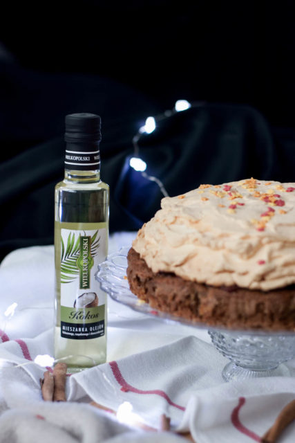 Ciasto korzenne z batatem i słodką chmurką (bez cukru)