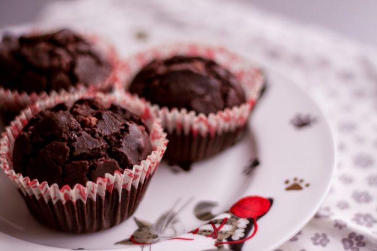 Czekoladowe muffinki bezglutenowe i bez cukru