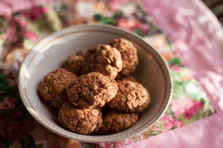 Ciasteczka owsiane z kokosem bez cukru