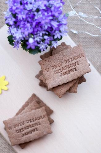 Kruche orkiszowe ciasteczka kakaowe