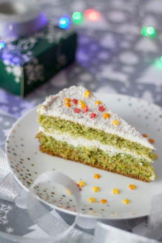 Zielony tort urodzinowy