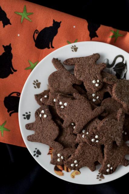 Ciasteczka czarne kotki z karobem (pełnoziarniste, bez cukru)
