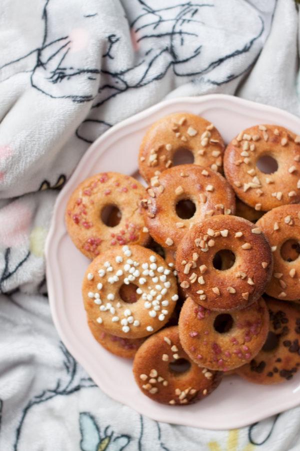 fit oponki z twarogiem pieczone donuty