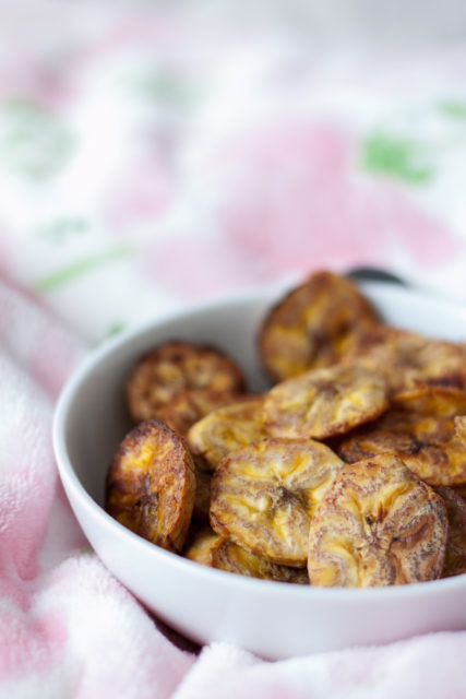 Pieczone chipsy z plantana
