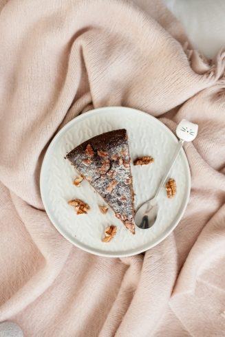 Ciasto z serkiem ricotta i karobem