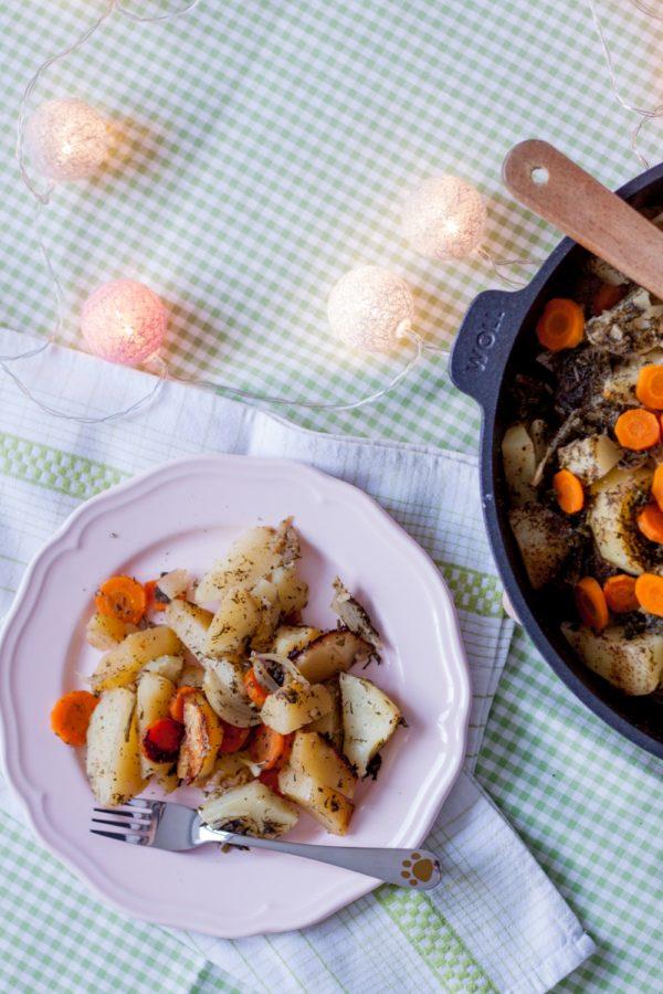 Opinia o patelni tytanowej Woll Szafir i ziemniaki zapiekane na patelni