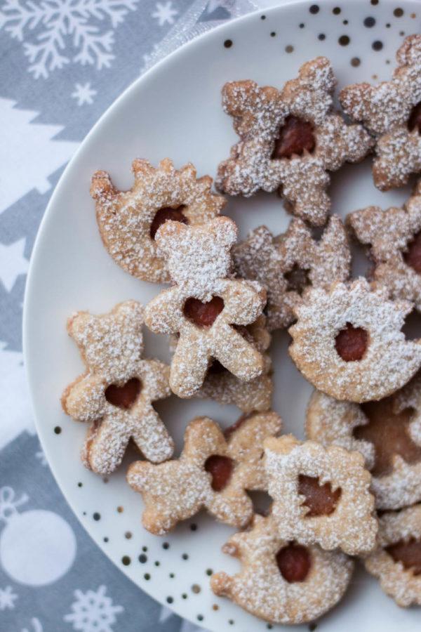 Świąteczne orkiszowe ciasteczka z konfiturą Zdrowe przepisy na święta
