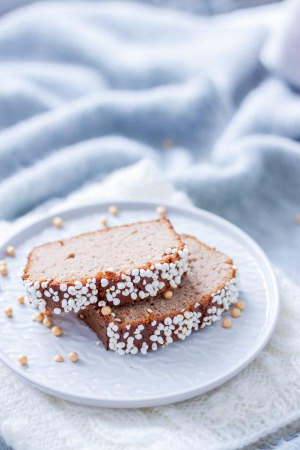 Puszyste ciasto malinowe zbananami (bezcukru)